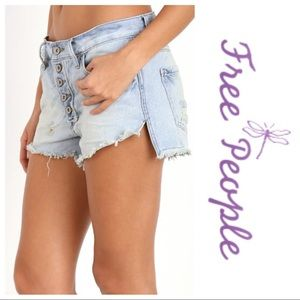 Free People Runaway Cutoff Denim Shorts